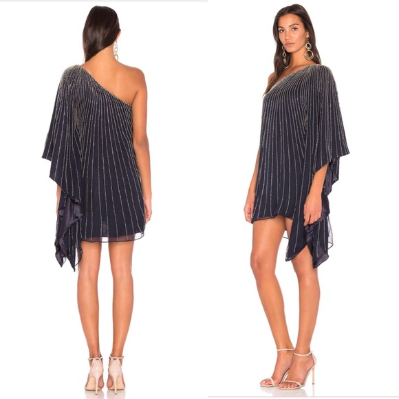 Parker Dresses | Black Daphine One Shoulder Evening Dress G1 | Poshmark